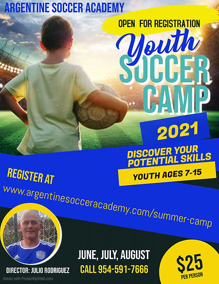 Copy of Soccer Camp Flyer Poster Templat