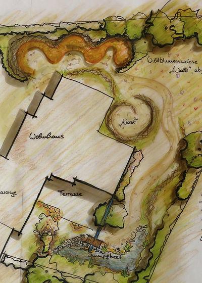 Wir bieten Ihnen Naturgartenplanung konk