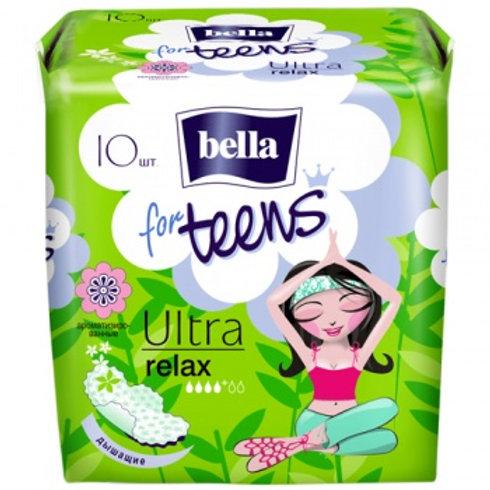 """Ультратонкие прокладки Новый дизайн""""Bella  teens Ultra Relax """" 10 шт"""