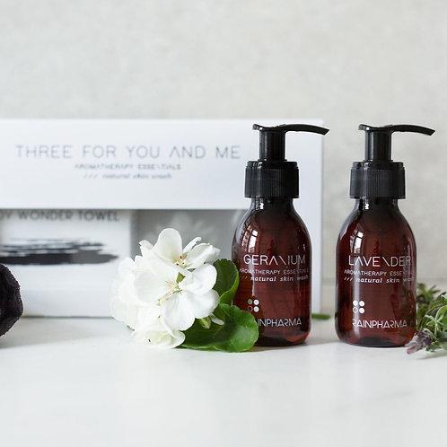 Three For You And Me - Body Wonder Towel - Lavender + Geranium 100 Ml