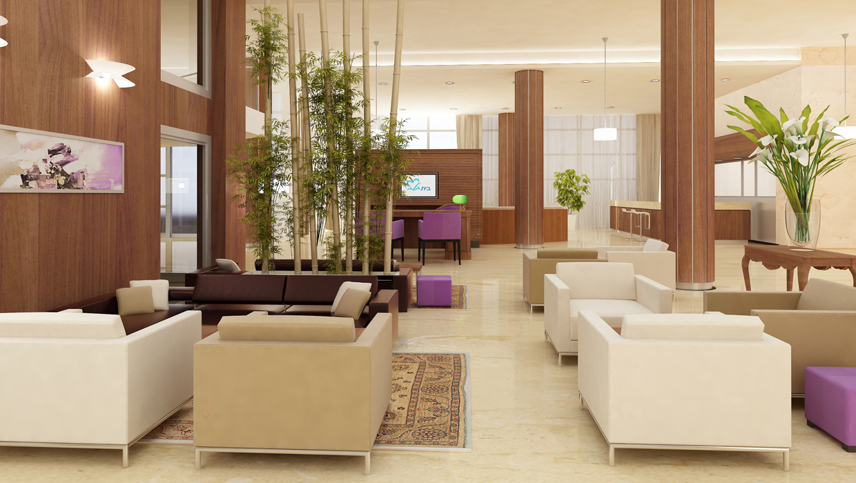 Exclusive retirement home Lobby