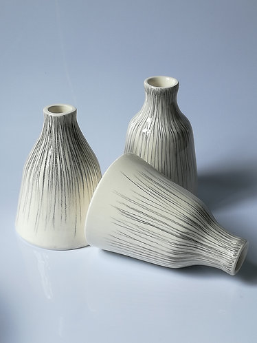 Pencil stripe bottle vase