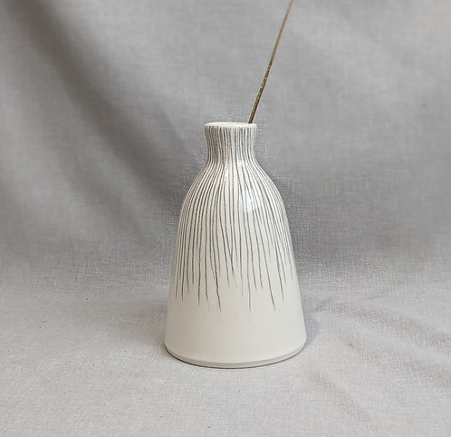 Medium pencil stripe bottle vase