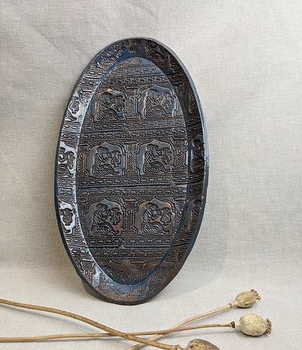 Large stamped platter