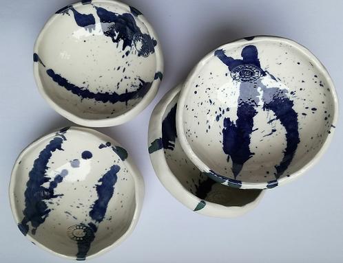 AbEx mini pebble salt and peper pots