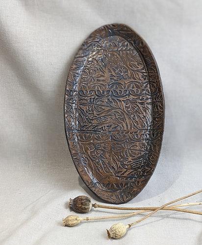 Large platter with blue/grey glaze