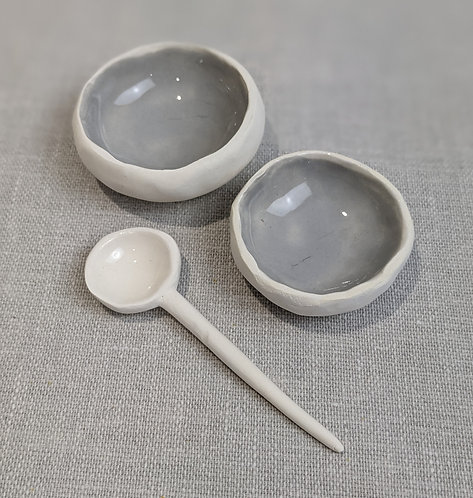 Small Grey Trinket Duo