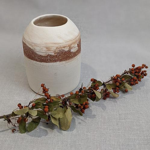Mixed clay vase