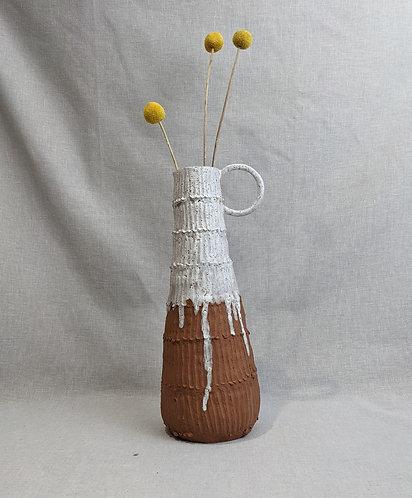Large terracotta crank jug