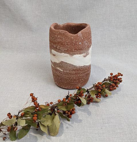 Terracotta crank vase