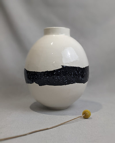 Large moon jar with black stripe