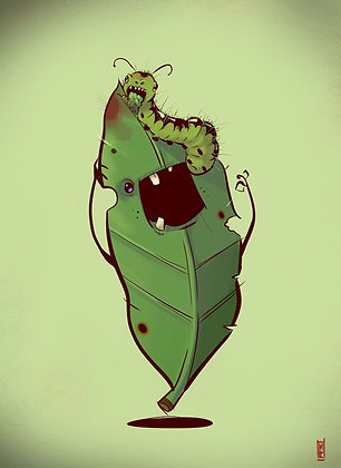 Zombie Leaf & Caterpillar