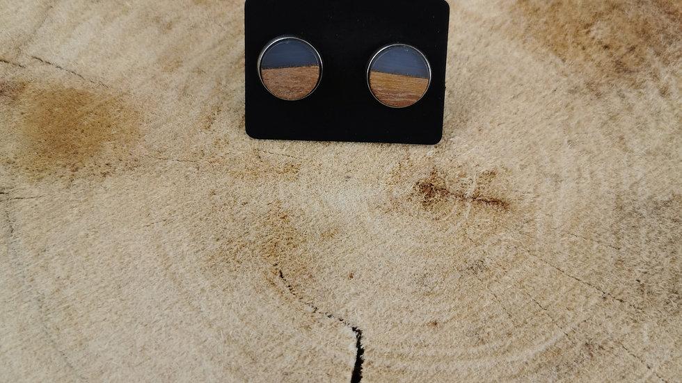 Boucle d'oreille collection bois et couleur