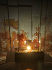 Skyline luminaire d'ambiance, glaïeul, collection jungle urbaine, verre