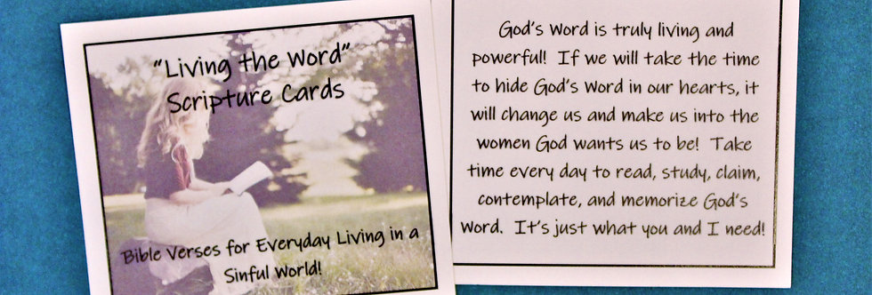 """""""Living the Word"""" Scripture Cards"""