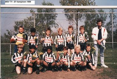 M.S.V.'71 - E1 Kampioen 1988