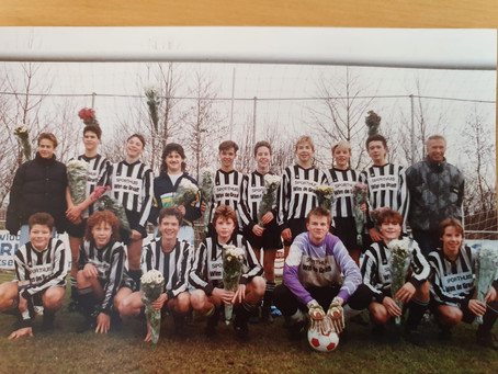 Succesvol  M.S.V.'71 Junioren team uit de jaren 90.