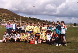 M.S.V.'71 op bezoek in Walesi n 1990
