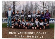 M.S.V.'71 jeugdteam winnaar Bert van Kessel Bokaal