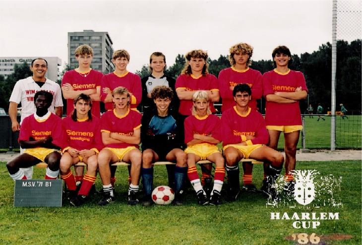 M.S.V.'71 B1 1986 Haarlem Cup