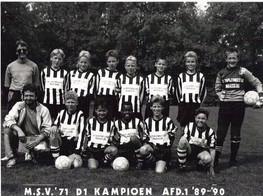 M.S.V.'71-D1 Kampioen Seizoen 1989-1990