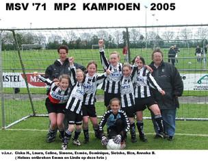 M.S.V.'71-MP2 Seizoen 2004-2005 Kampioen