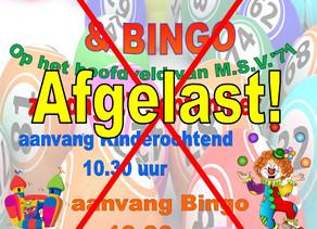 Kinderochtend en Bingo afgelast