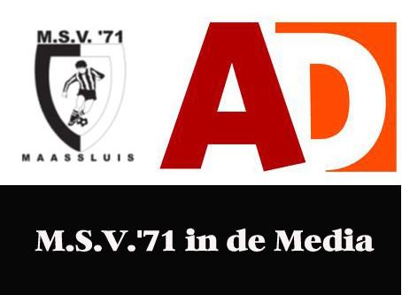 Verslag M.S.V.'71 tegen SVV in het AD