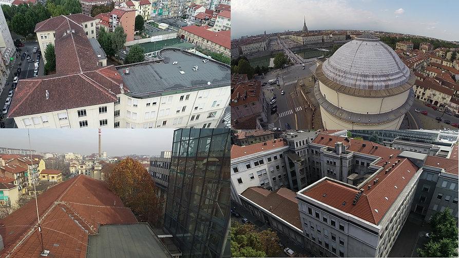 Ispezione tetti coperture drone