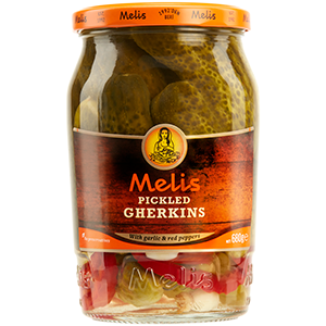 MLS122 MELIS PICKLED GHERKINS 720ml X 12CS