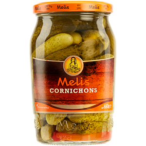 MLS123 MELIS CORNICHONS 720ml X 12-cs
