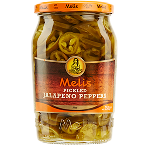 MLS1449 MELIS PICKLED JALAPENO PEPPERS 720ml X 12cs