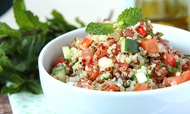 Tabule de Quinoa Sem Glútem
