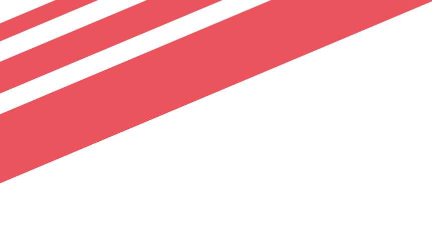 Red and white stripe strip