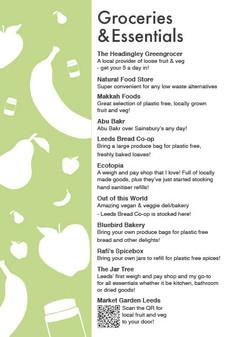 Sustainable Leeds Map: Groceries & Essentials