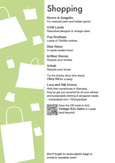 Sustainable Leeds Map: Shoppin