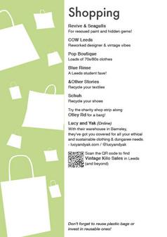 Sustainable Leeds Map: Shoppin