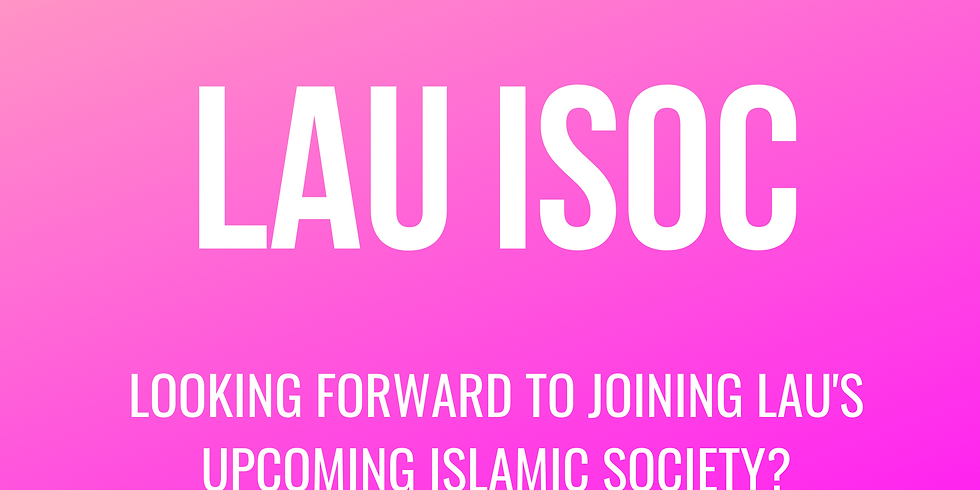 The first meeting of Islamic Society