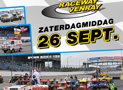 "ZATERDAG 26 SEPTEMBER RACEWAY VENRAY - ""SMILING BUMPY RACING STOCKCAR F1 TWO-SEATER"" UKKE PUKKE RACE"