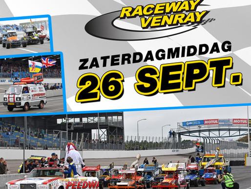 "ZATERDAG 26 SEPTEMBER RACEWAY VENRAY - ""SMILING BUMPY RACING STOCKCAR F1 TWO-SEATER"" UKKE PUKKE RACE"