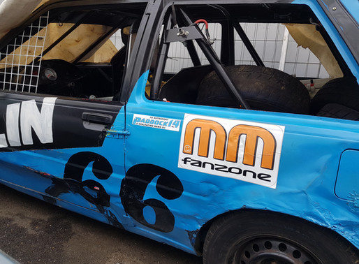 MiniStox coureur Colin Croese #66 support ook Paddock14 en MM Fanzone