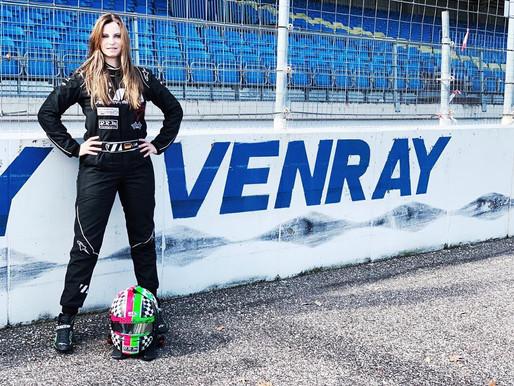 Laura Luft - LMV8 Oval Series test op Raceway Venray