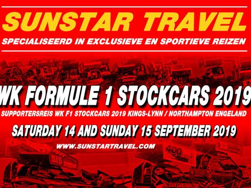 SUNSTAR TRAVEL: Supportersreis WK F1 Stock-cars 2019 in Kings-Lynn / Northampton Engeland