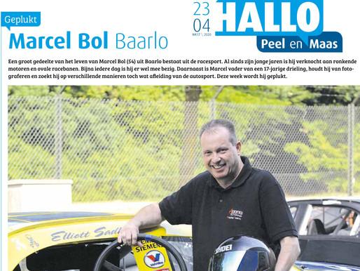 Interview Marcel Bol in 'Hallo Peel en Maas' voor de rubriek 'Geplukt'.