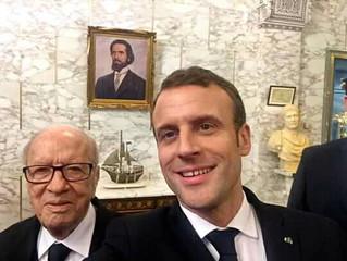 Le selfie de Macron à Carthage