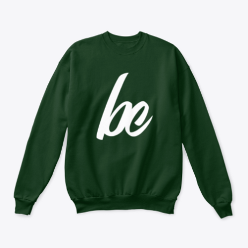 White BC Crewneck Sweater