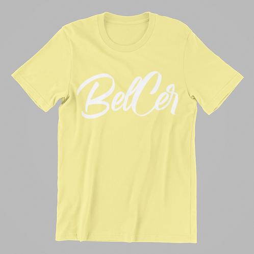 """White """"BELCER"""" SS Tee"""