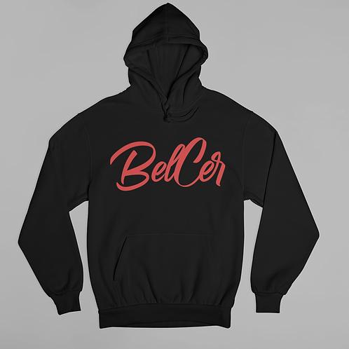 """Red """"BELCER"""" Hoodie"""