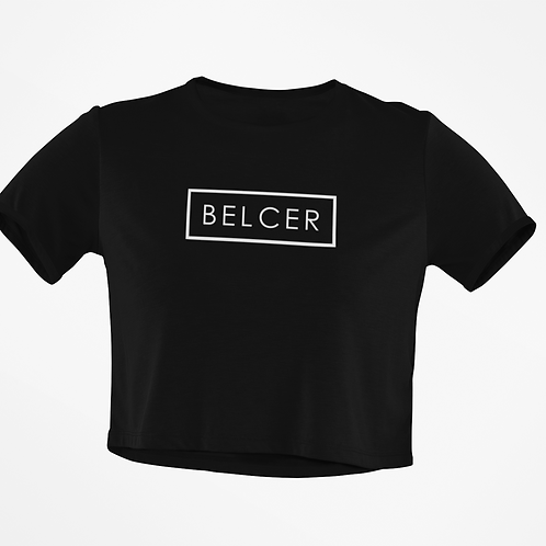 White BelCer Recked Crop Top