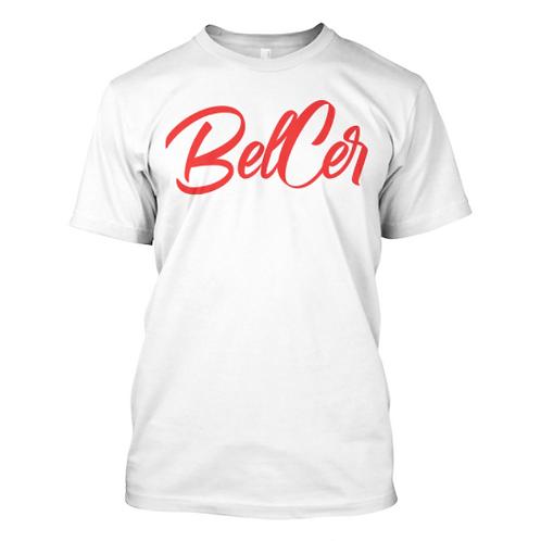 "Red ""BELCER"" SS Tee"